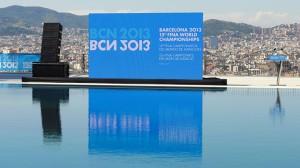 Presentación de la canción oficial del Mundial de Natación: 'La ciutat entre dos blaus'