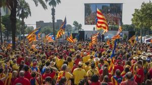 Diada de Cataluña 2014 en Barcelona
