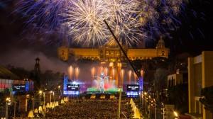 Fin de Año en las fuentes de Montjuïc